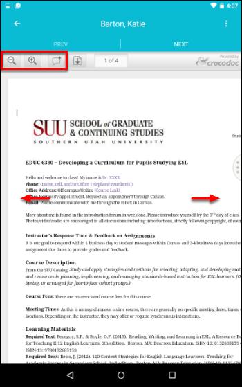 Screenshot of an assignment.