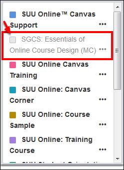 Screenshot of an unselected option.
