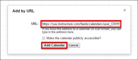 Screenshot of pasting the URL.
