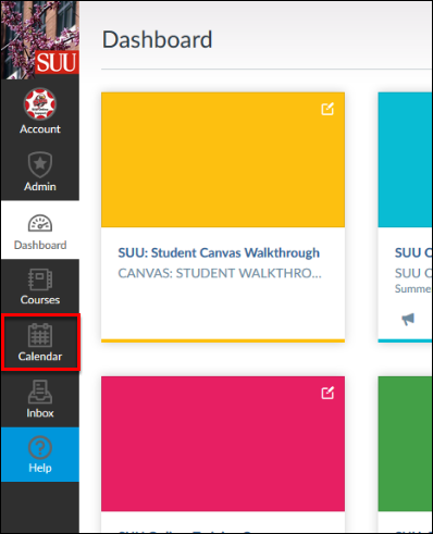 Screenshot of the Calendar button.