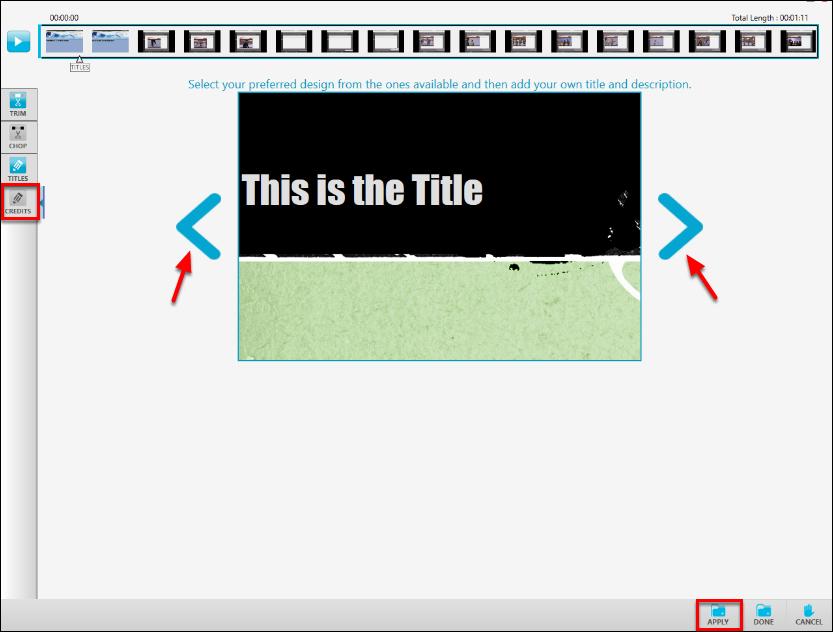 Screenshot of the Credits slide.