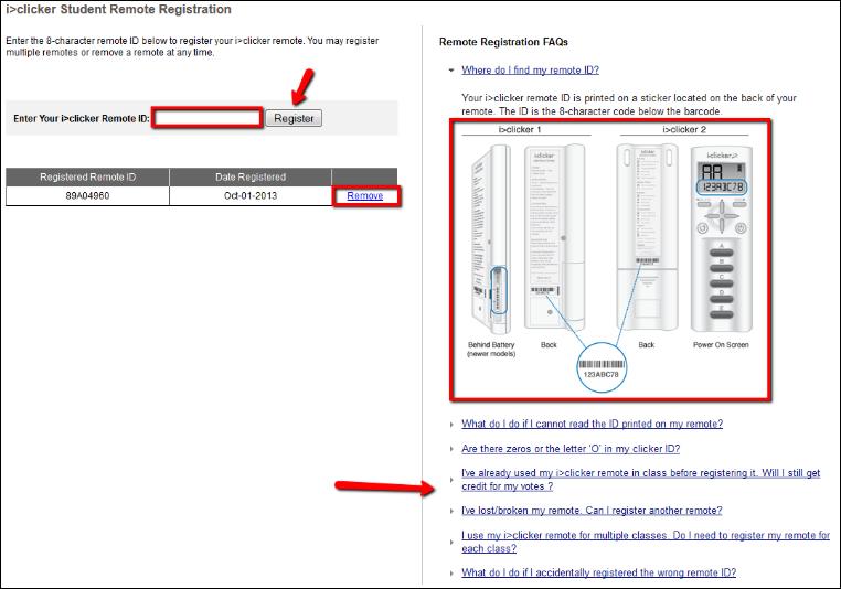Screenshot of the iclicker window.
