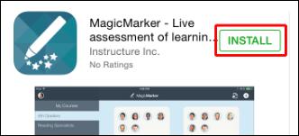 Screenshot of the Install button.