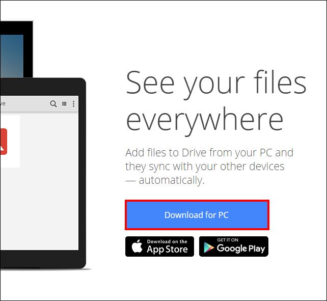 Screenshot of the Mac and PC option.