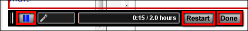 Screenshot of the pause buttons.