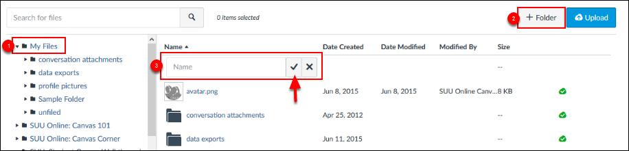 Screenshot of the process to add a folder.