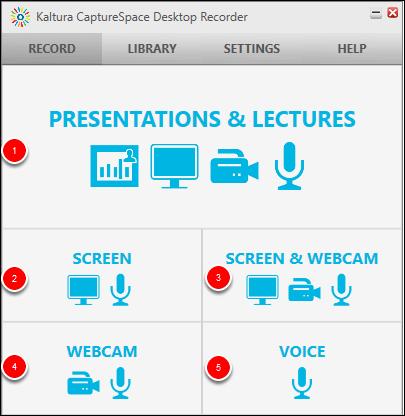 Screenshot of the Screen button.