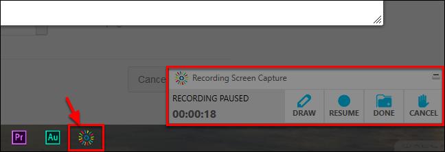 Screenshot of the Screen Capture tool.