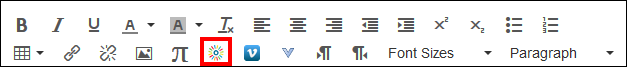 Screenshot of the toolbar with the Kaltura icon.